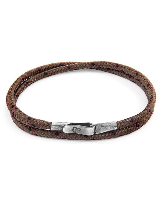 Anchor & Crew - Metallic Brown Liverpool Silver & Rope Bracelet for Men - Lyst