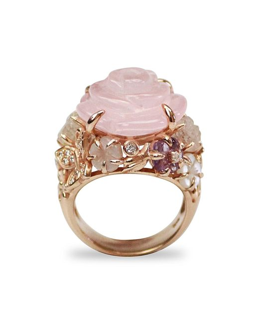 Bellus Domina - Multicolor Amare Rose Ring - Lyst