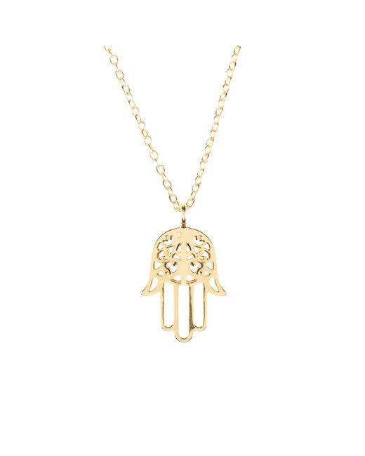 Latelita London | Metallic Cosmic Hamsa Necklace Gold | Lyst