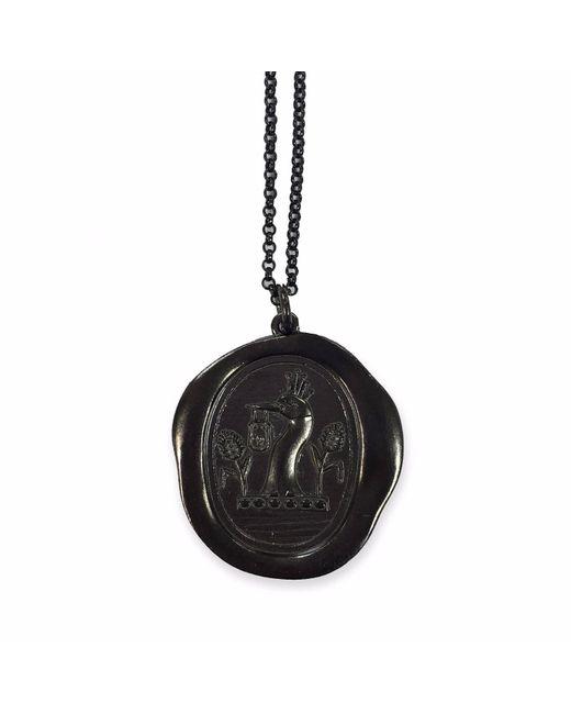 Serge Denimes | Black Gun Metal Padlock Pendant Necklace Polished | Lyst