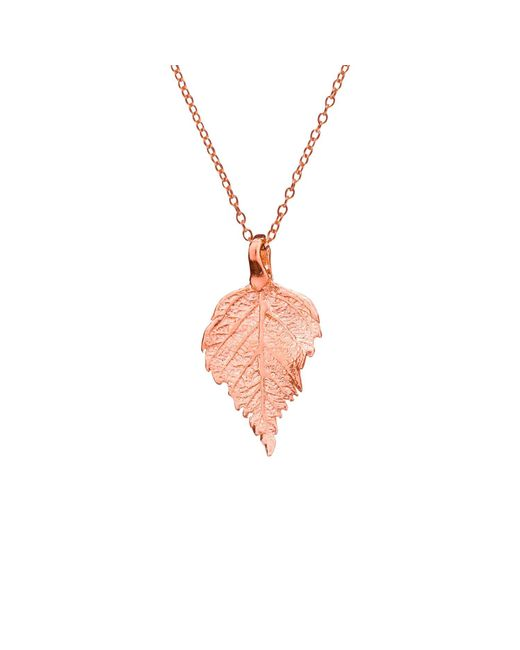 Chupi | Metallic The Sweetest Thing Tiny Raspberry Leaf Necklace Rose Gold | Lyst