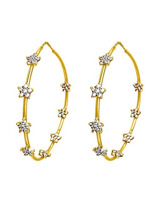 Talia Naomi | Metallic Twinkle Twinkle Large Hoop Earrings | Lyst