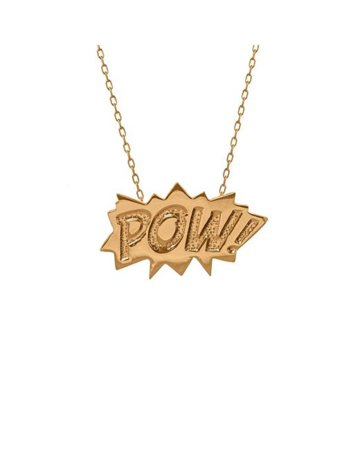 Edge Only | Metallic Pow Pendant Large Long In Gold | Lyst