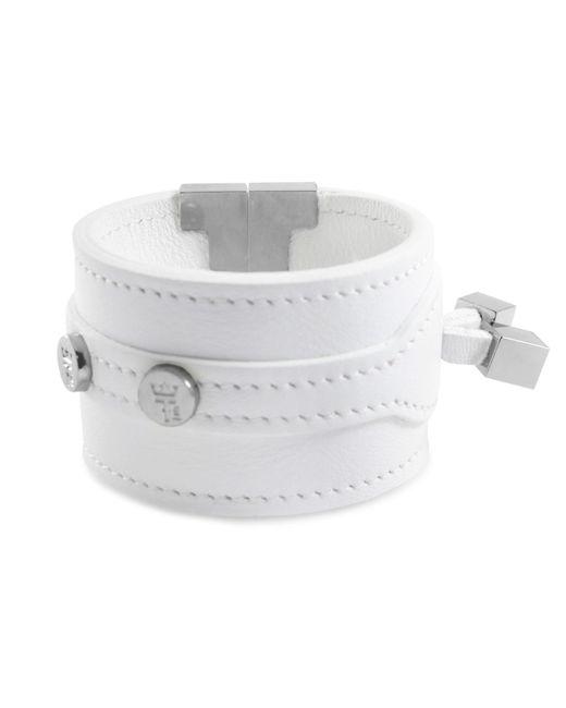 Tissuville - Solo Bracelet White Silver - Lyst