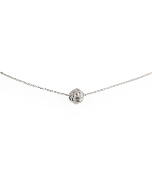 MARIE JUNETM Jewelry - Metallic Monkey Paw Knot Charm Silver Necklace - Lyst