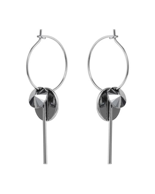 Nadia Minkoff - Metallic Hoop Cluster Earrings Silver Chrome - Lyst