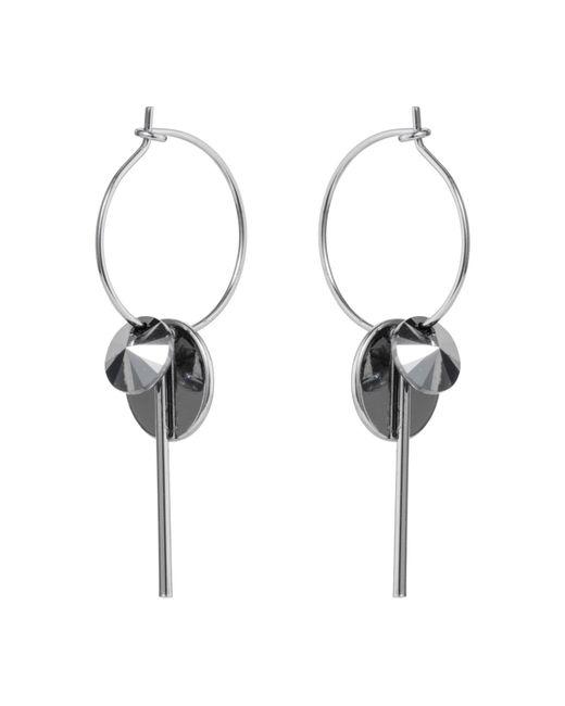 Nadia Minkoff | Metallic Hoop Cluster Earrings Silver Chrome | Lyst