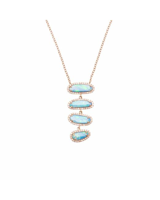 Ri Noor | Multicolor Four Opal Slice Necklace | Lyst
