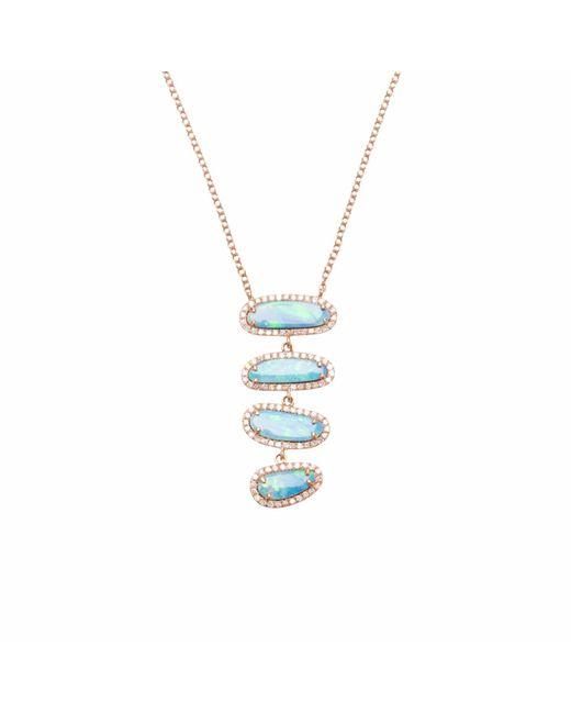Ri Noor - Multicolor Four Opal Slice Necklace - Lyst