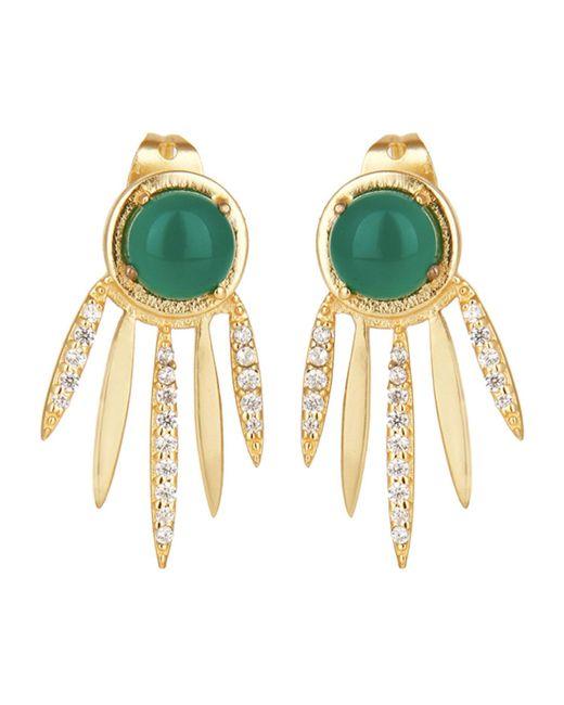 Carousel Jewels - Metallic Green Onyx Dreamcatcher Earrings - Lyst