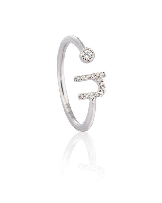 Astrid & Miyu - Metallic Silver Initial U Ring - Lyst