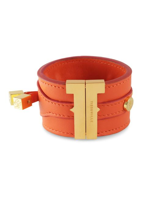 Tissuville - Orange Solo Bracelet Clementine Gold - Lyst