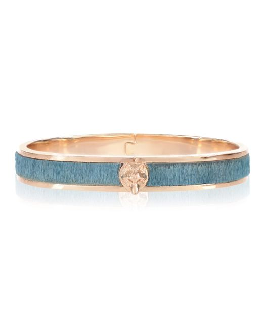 Alexa K | Metallic Gold Faux Fur Wolf Bangle | Lyst