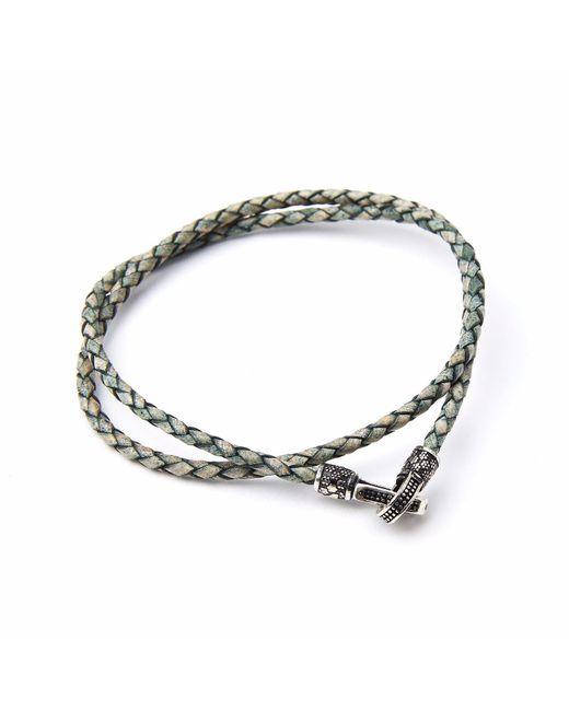 4Fellas | Metallic Eclipse Green Bracelet for Men | Lyst