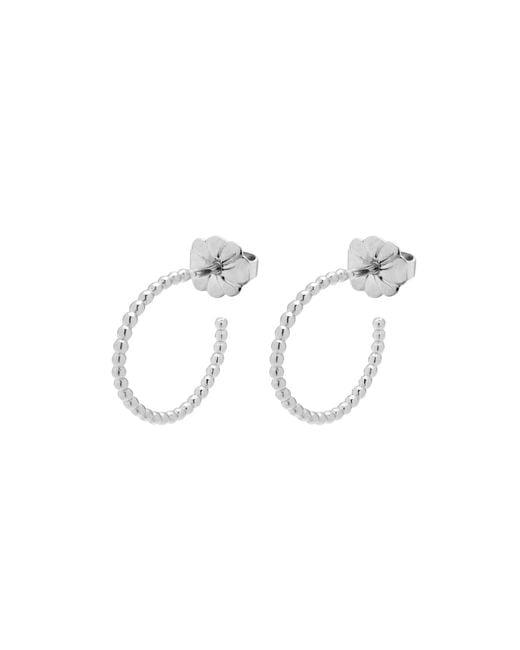 Myia Bonner - Metallic Silver Mini Ball Hoop Earrings - Lyst