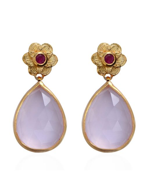Emma Chapman Jewels | Purple Adila Rose Quartz Earrings | Lyst