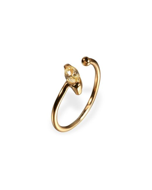 Ona Chan Jewelry | Metallic Little Jewels Open Ring Marquis Yellow & Gold | Lyst
