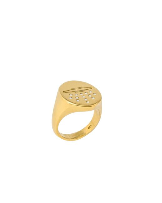 Glenda López - Metallic The Ovni Signet Ring - Lyst