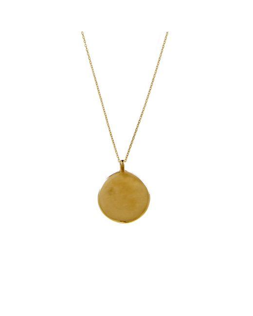 KIND Jewellery | Metallic Gold Full Moon Disc Necklace | Lyst