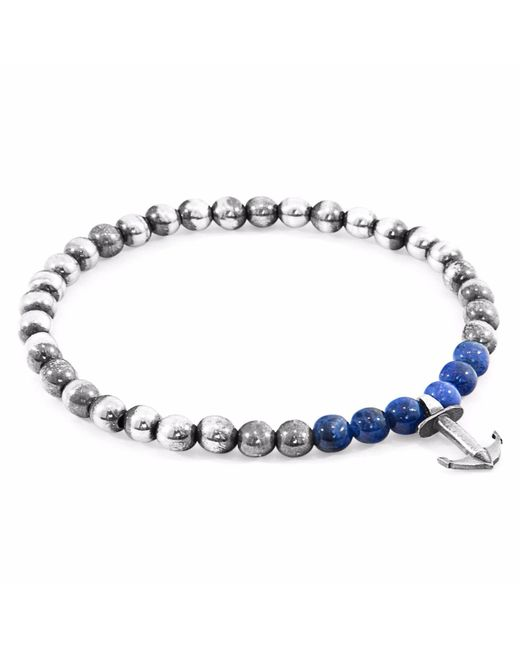 Anchor & Crew | Blue Sodalite Keel Silver & Stone Bracelet for Men | Lyst