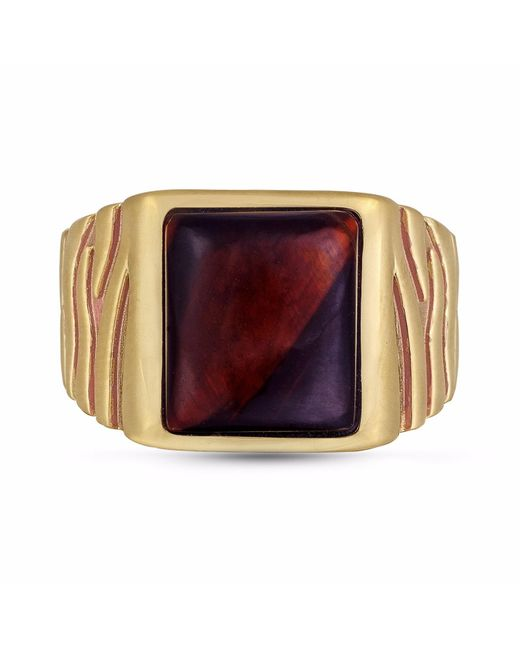 LMJ - Multicolor Chatoyant Red Tiger Eye Stone Ring - Lyst