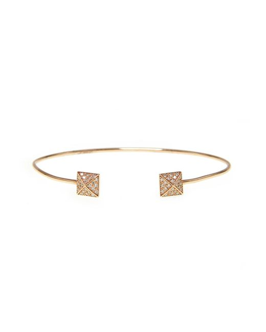 Ri Noor | Metallic Pyramid Pave Diamond Bangle | Lyst