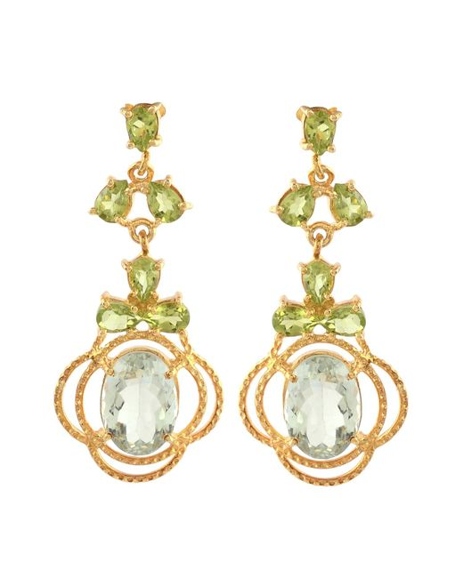 Carousel Jewels - Metallic Peridot & Topaz Statement Earrings - Lyst