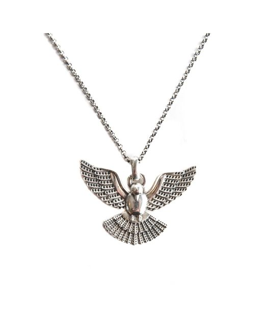Serge Denimes - Metallic Silver Dove Necklace for Men - Lyst