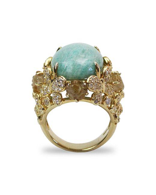 Bellus Domina - Blue Amare Amazonite Ring - Lyst