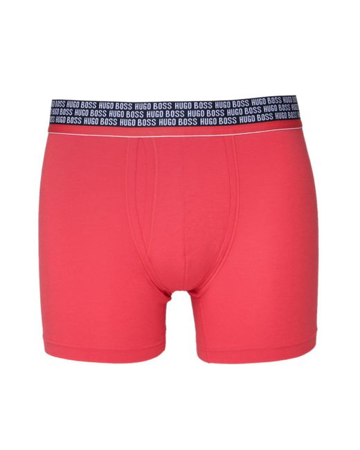 BOSS | Bright Red Modal Cotton Stretch Boxer Briefs for Men | Lyst