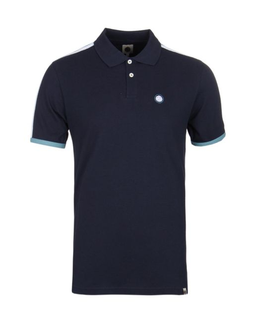 Pretty Green - Blue Tilby Moon Navy Polo Shirt for Men - Lyst
