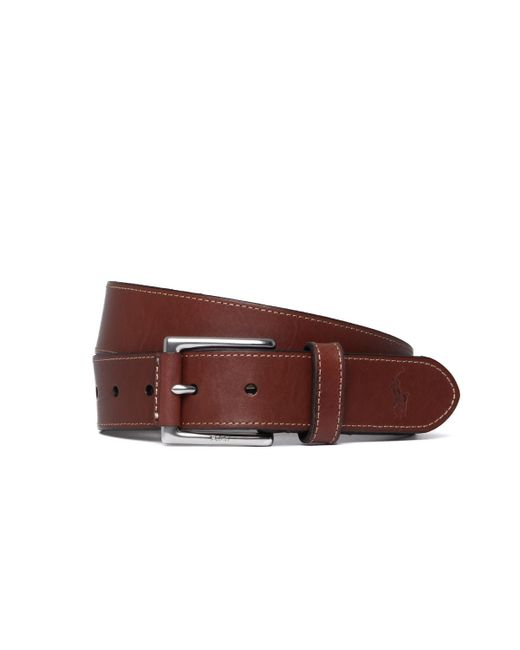 Polo Ralph Lauren - Brown Smooth Leather Belt for Men - Lyst