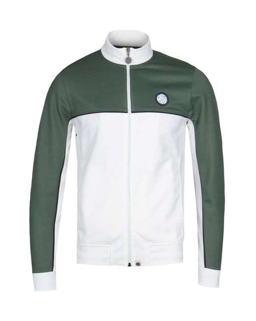 Pretty Green - Irwell Green Contrast Panel Track Top for Men - Lyst