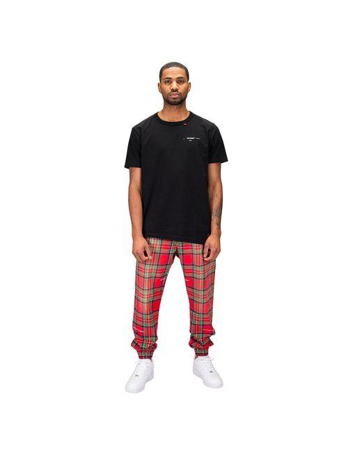 Men's Black Script Spliced T Shirt by Off White C/O Virgil Abloh