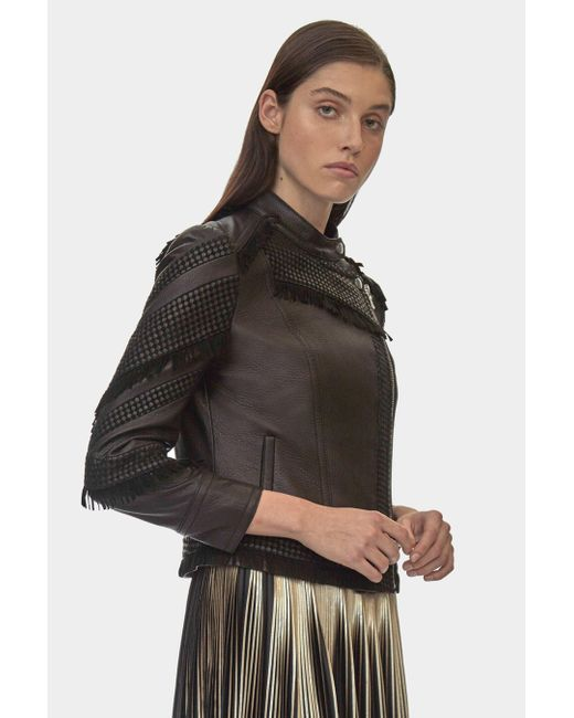 Yigal Azrouël - Black Fringe Moto Jacket - Lyst