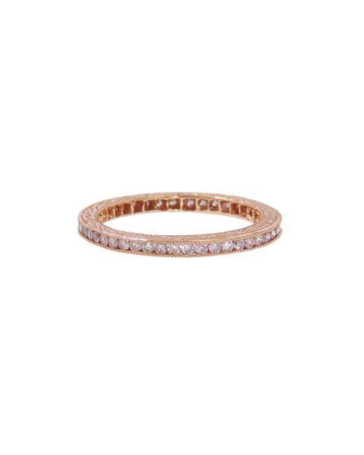 Sethi Couture - Channel Set Pink Diamond Ring - Lyst