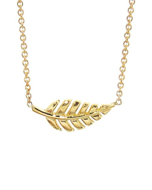 Jennifer Meyer - Metallic Mini Leaf Necklace - Lyst