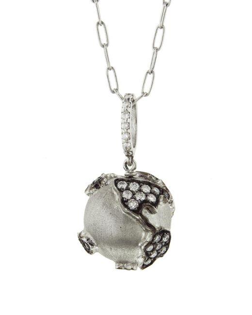 Sharon Khazzam - Multicolor Diamond World Globe Necklace - Lyst