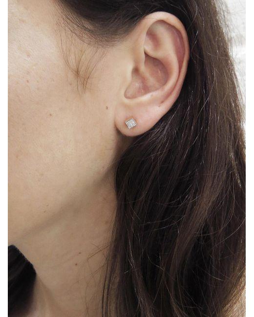 eadc3a35c ... Ginette NY - Multicolor Mini Diamond Ever Stud Earrings - Lyst