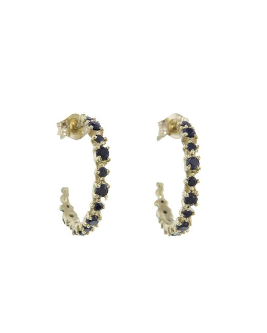 Ruta Reifen - Metallic Black Spinel Happy Hoop Earrings - Lyst