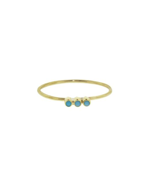 Jennifer Meyer - Multicolor Mini Bezel Turquoise Trio Ring - Lyst