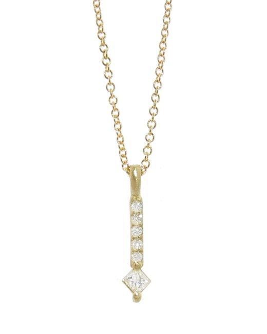 Tate - Multicolor Square Diamond Bar Pendant Necklace - Lyst