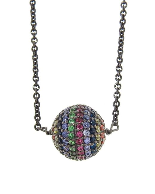 Ileana Makri - Blue Rainbow Bead Necklace - Lyst