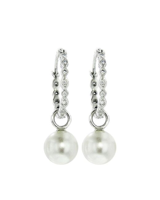Cathy Waterman - Multicolor Pearl Seed Hoop Earrings - Lyst