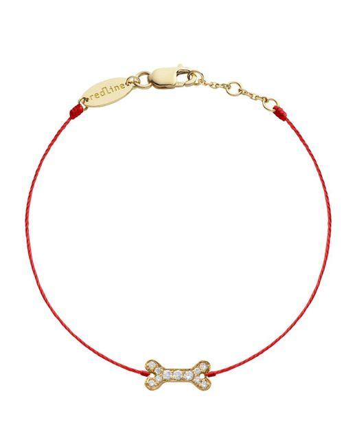 RedLine - Metallic Diamond Bone Red Bracelet - Lyst