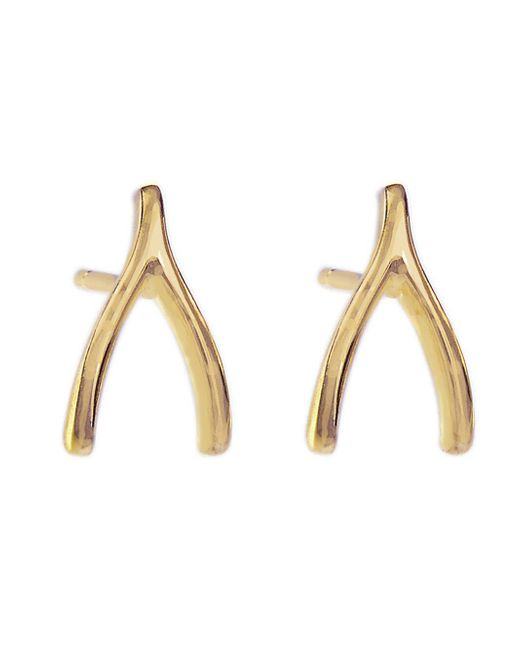 Jennifer Meyer - Metallic Wishbone Stud Earrings - Lyst
