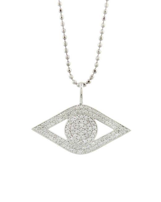 Sydney Evan - Multicolor Large Pavé Diamond Evil Eye Necklace - Lyst