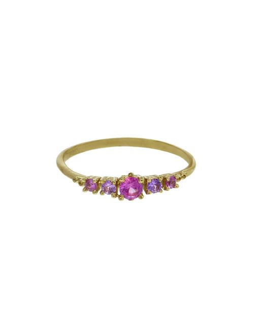 Ruta Reifen - Multicolor Three, Two, One Violet Pink Sapphire And Rhodolite Ring - Lyst