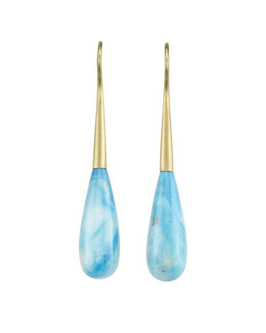 Irene Neuwirth - Marbled Blue Opal Teardrop Earrings - Lyst