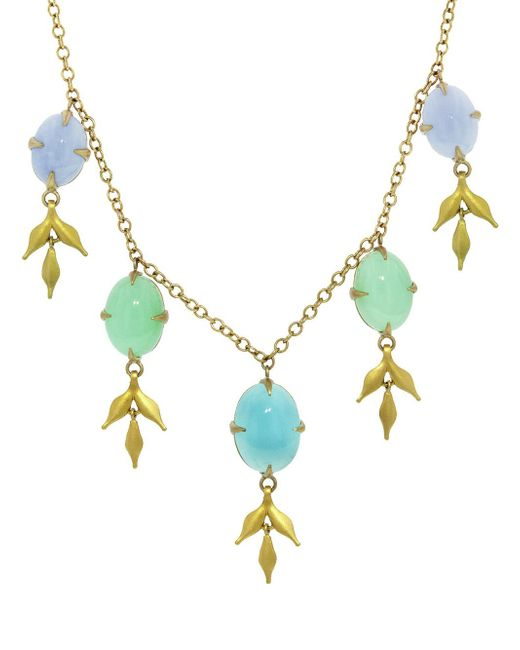 Cathy Waterman - Multicolor Opal And Chrysoprase Lyrical Wheat Necklace - Lyst